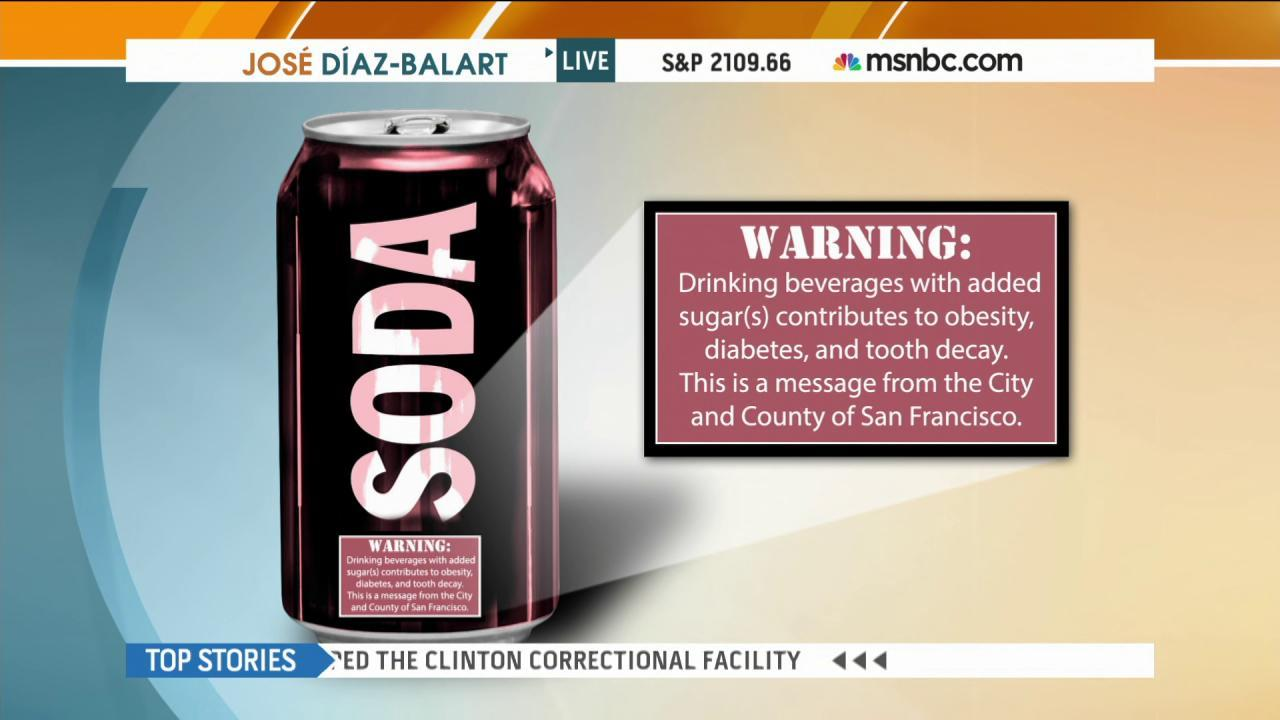 San Francisco moves to label sugary drinks