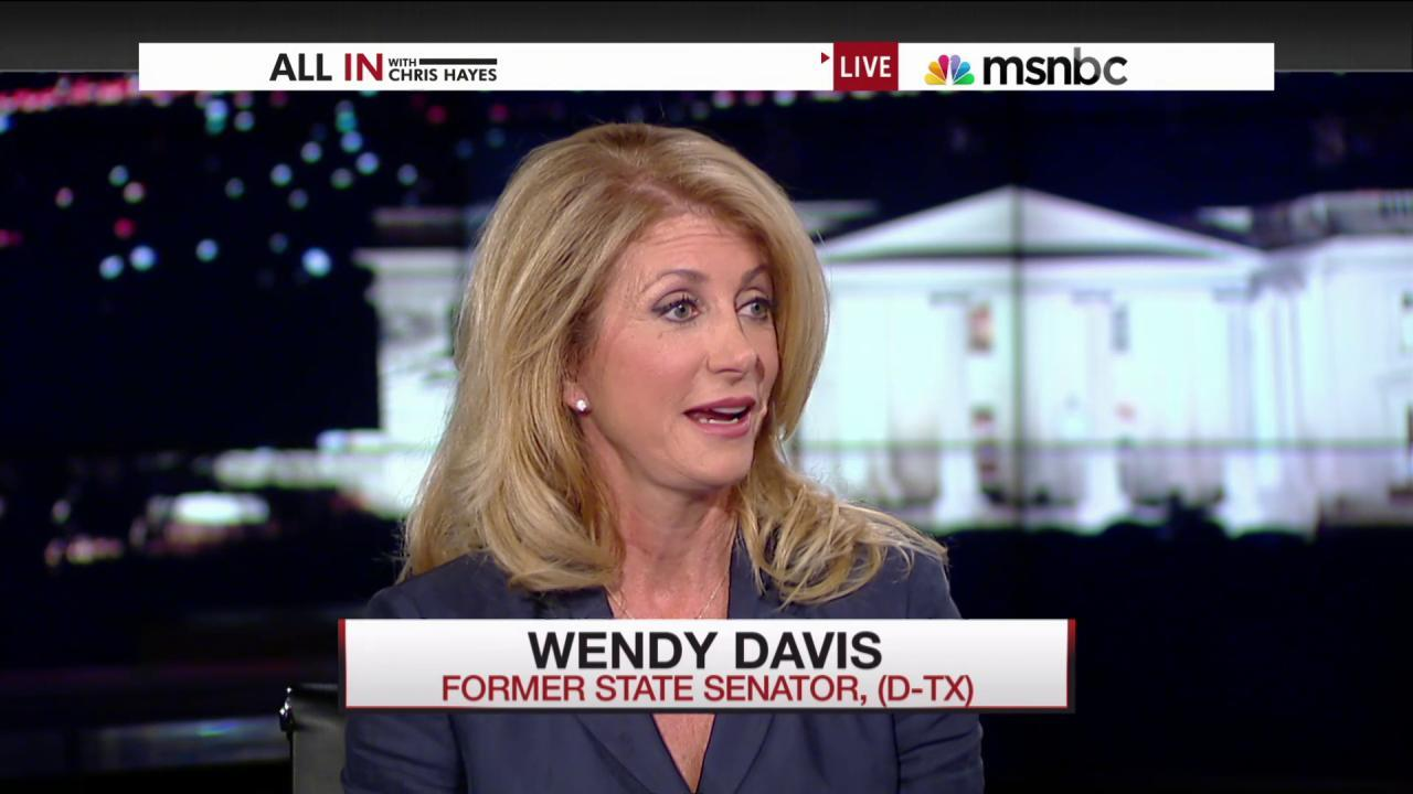 Wendy Davis on Jeb Bush's 'shaming'