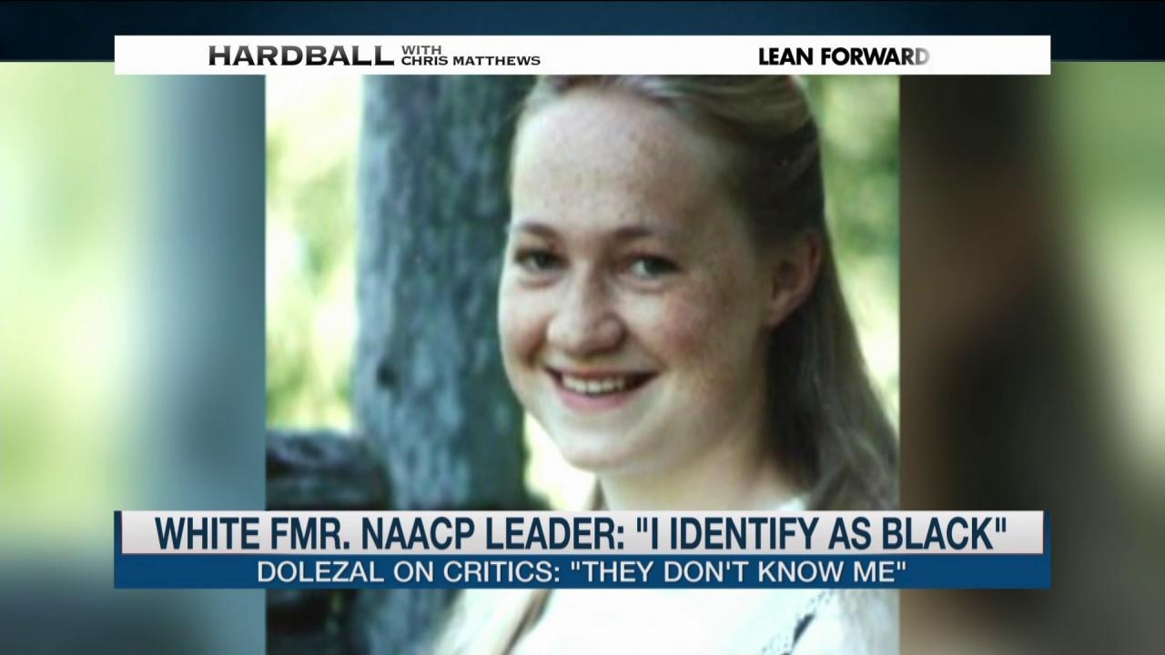 """Fmr. NAACP Leader: """"I identify as black"""""""