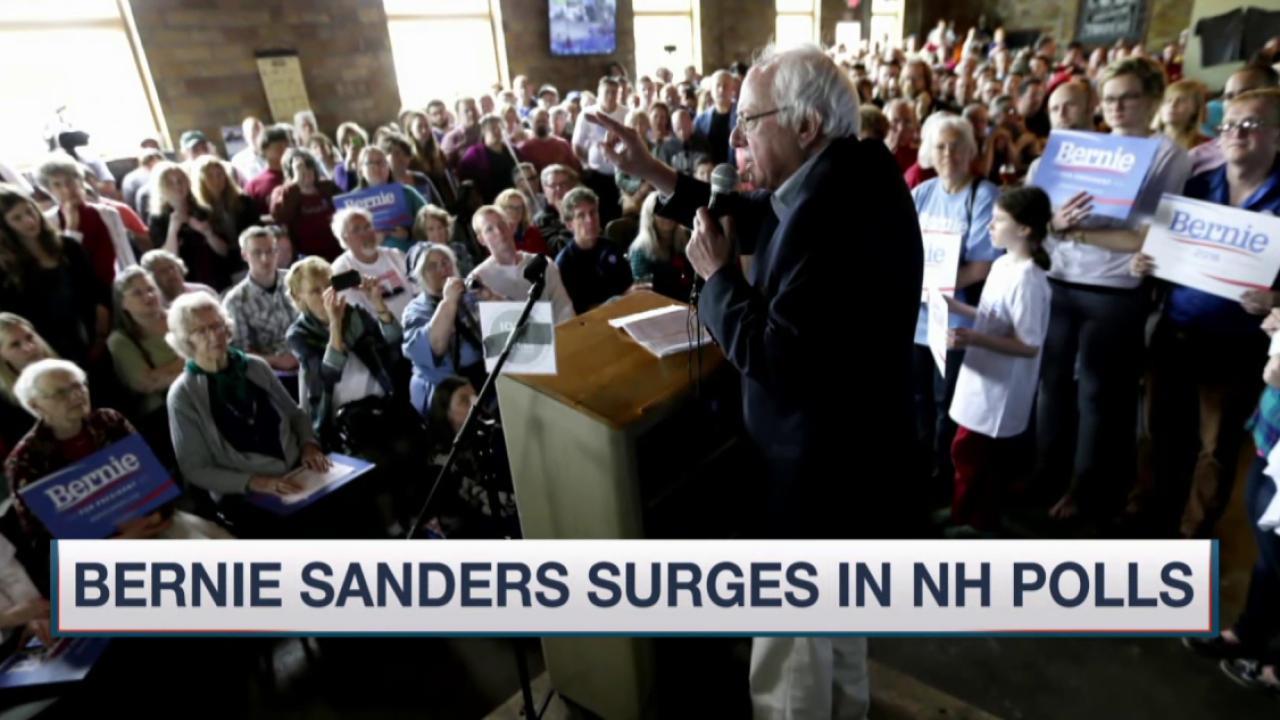 Huge crowds flock to Sanders rallies