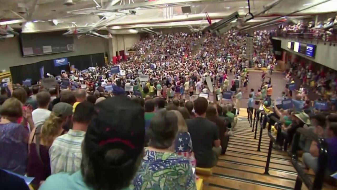 Sanders draws capacity crowds in Denver
