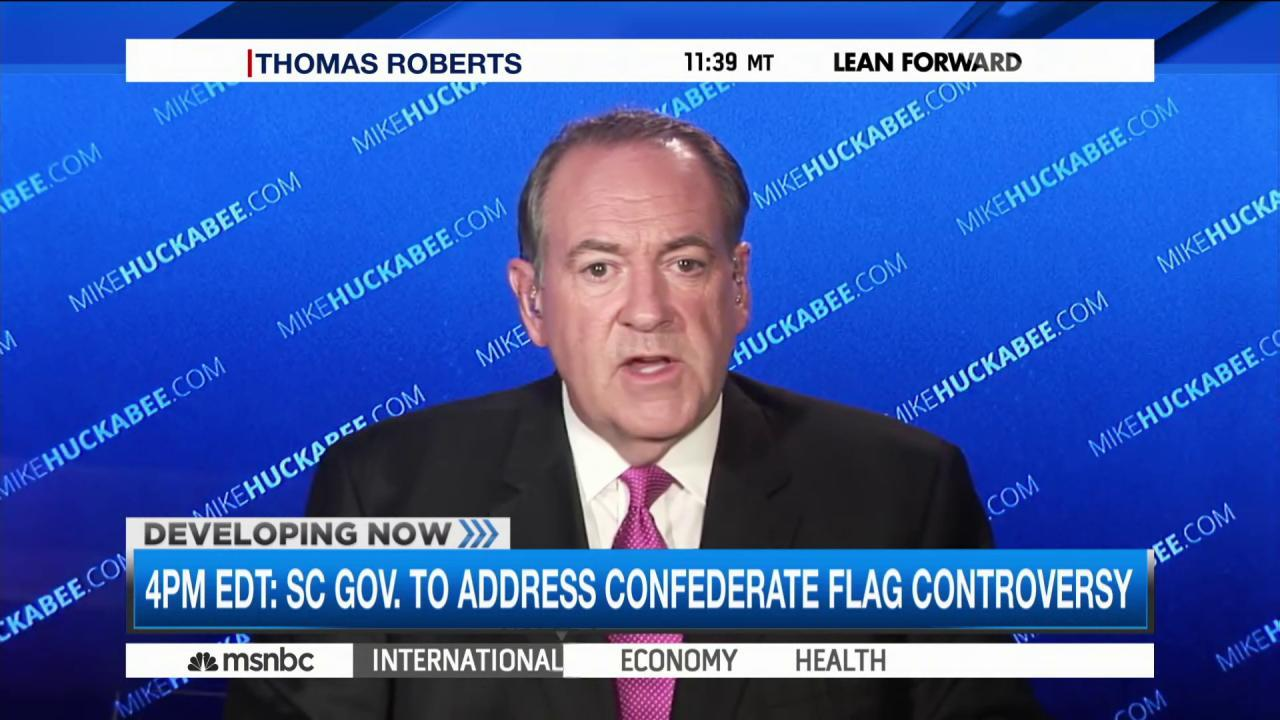 GOP candidates' take on Confederate flag
