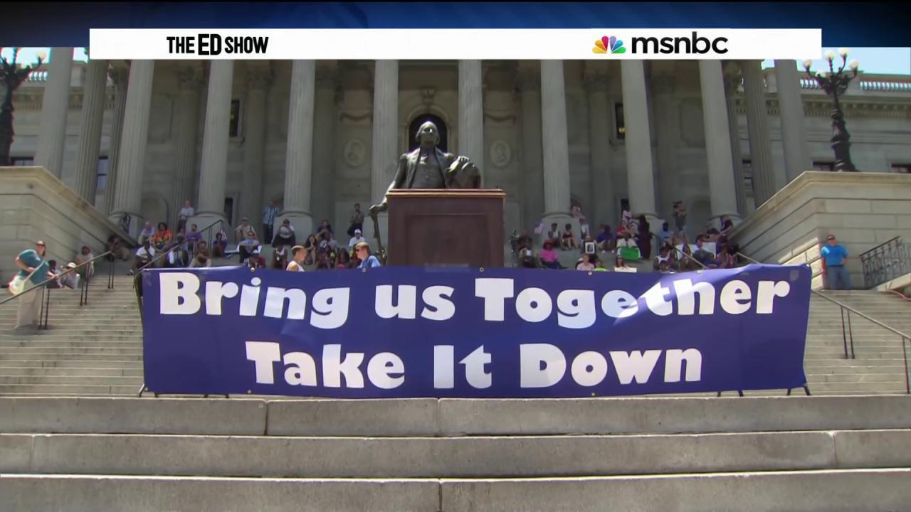 Confederate flag protests spread