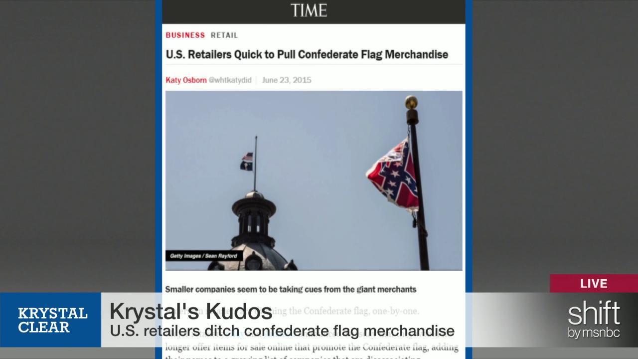 U.S. retailers ditch Confederate flag...