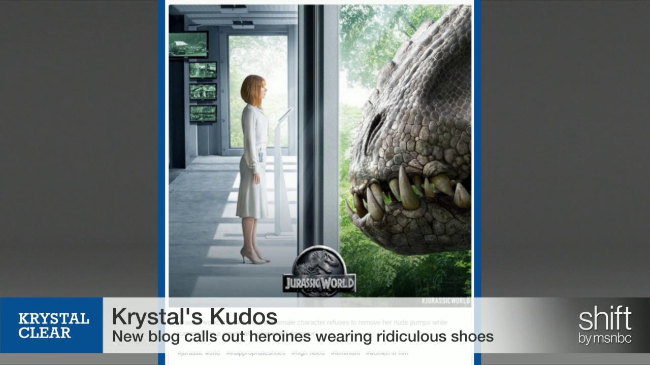 She ran from a T-Rex wearing…what?!