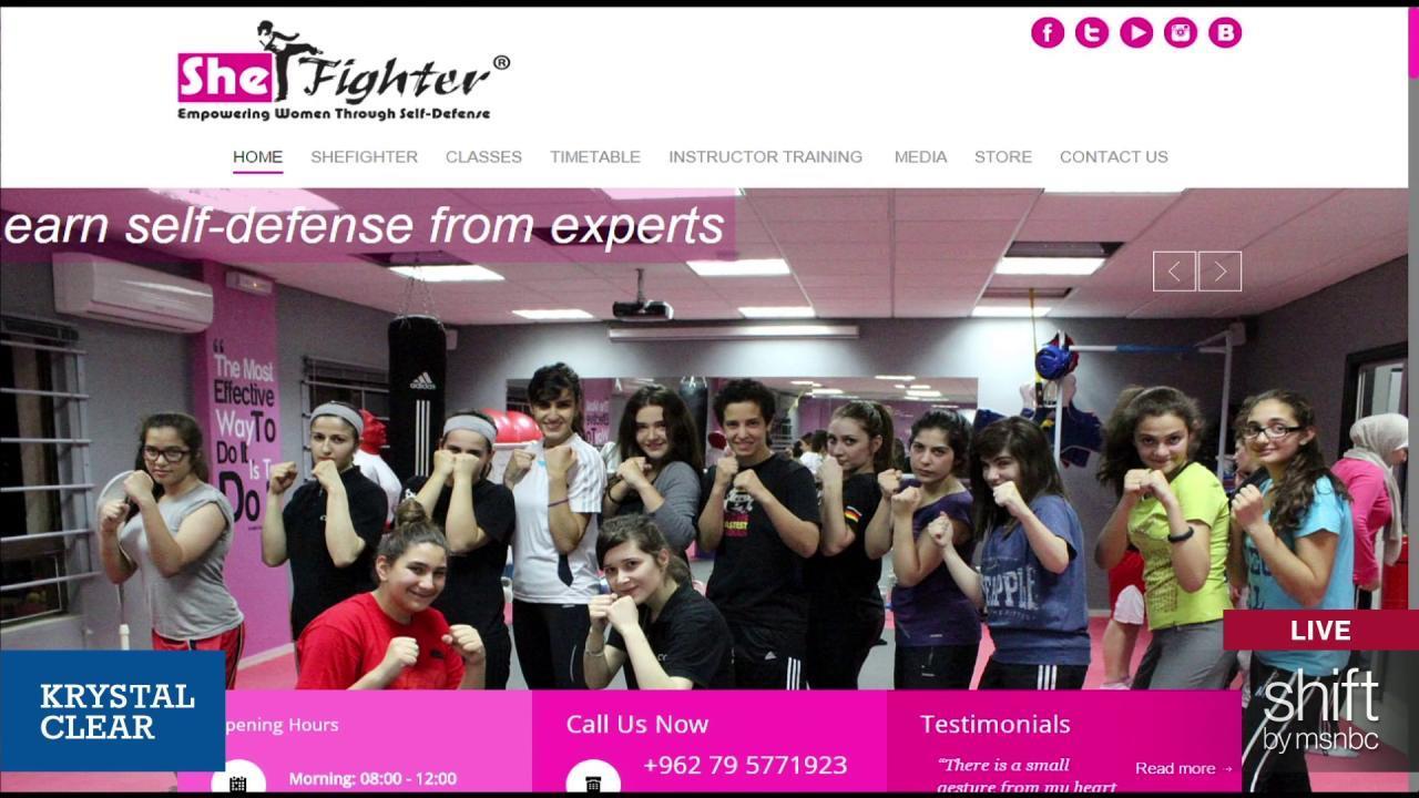 The fierce female teaching self-defense to...