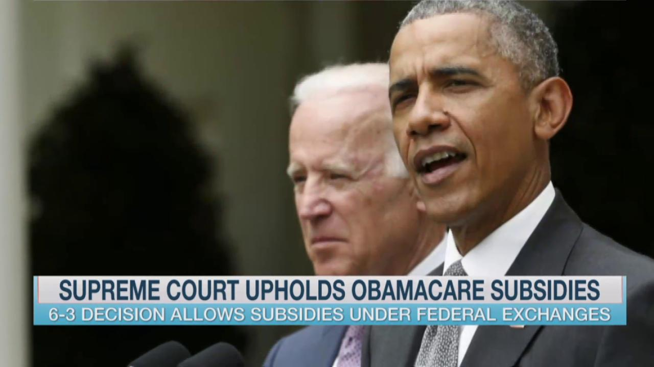Supreme Court votes to uphold Obamacare