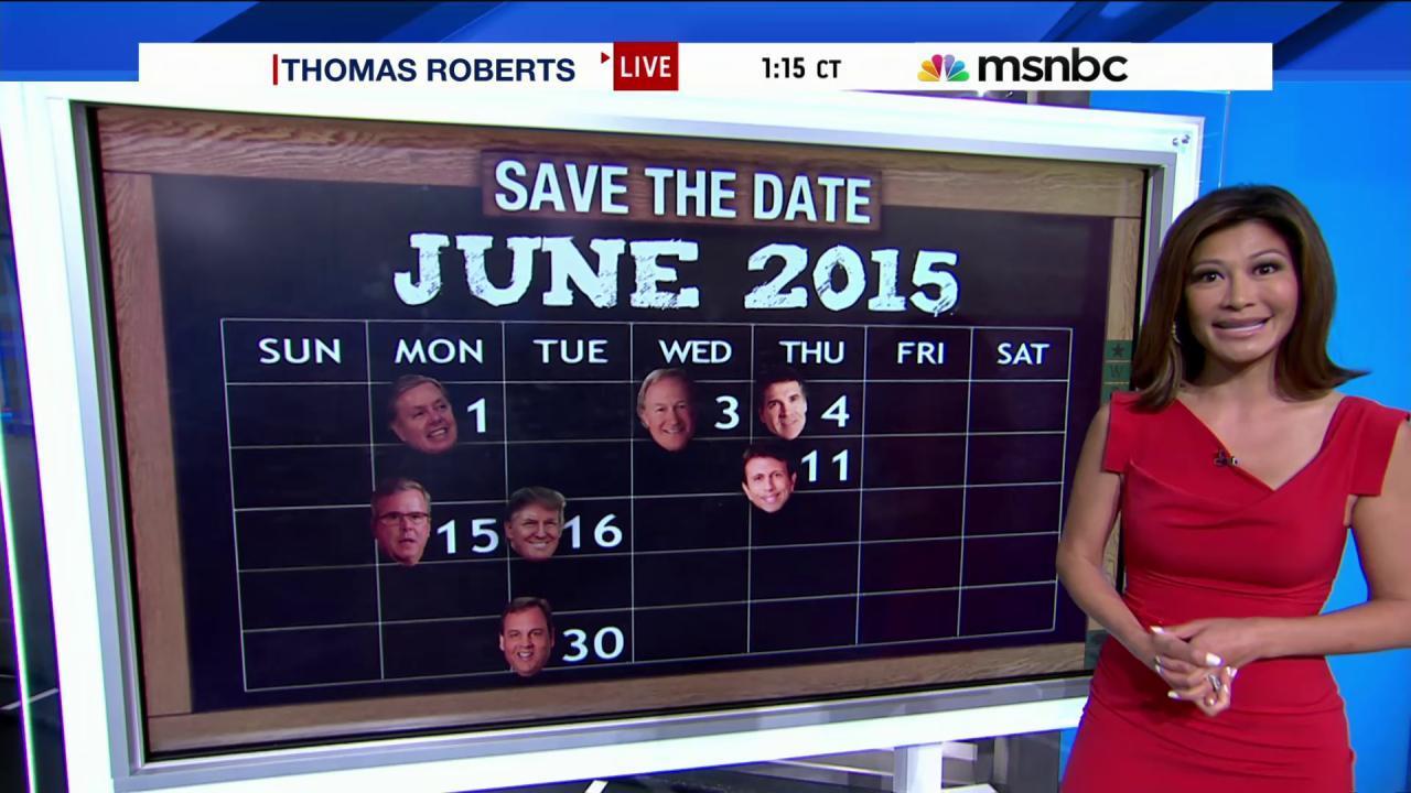 Christie is 14th Republican to run in 2016