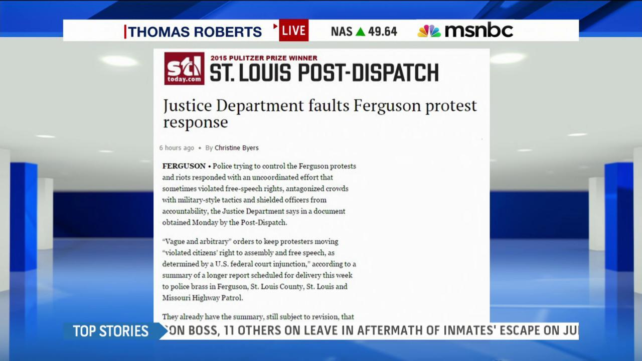 Report: Police 'uncoordinated' in Ferguson MO