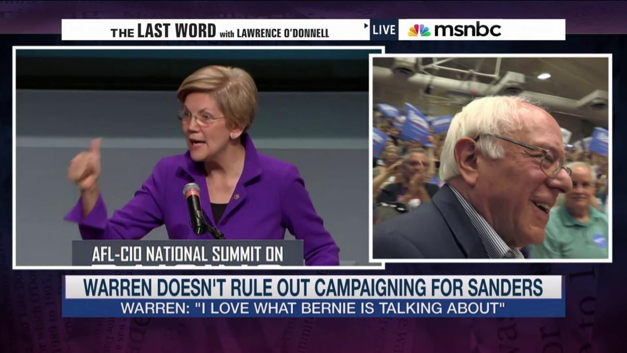 Will Elizabeth Warren campaign for Sanders?