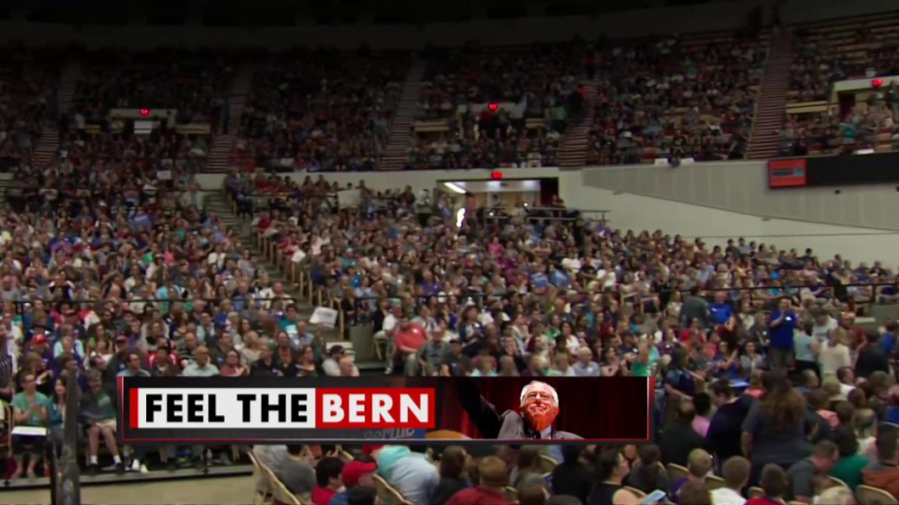 Huge crowd for Bernie Sanders in Wisconsin