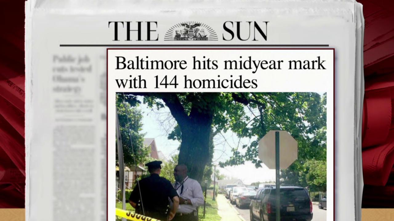 Baltimore homicides up 48 percent: report