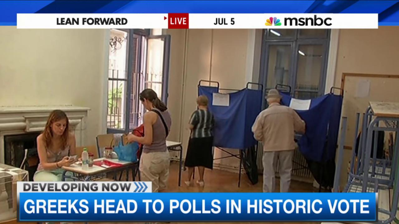 Greeks head to polls in historic vote