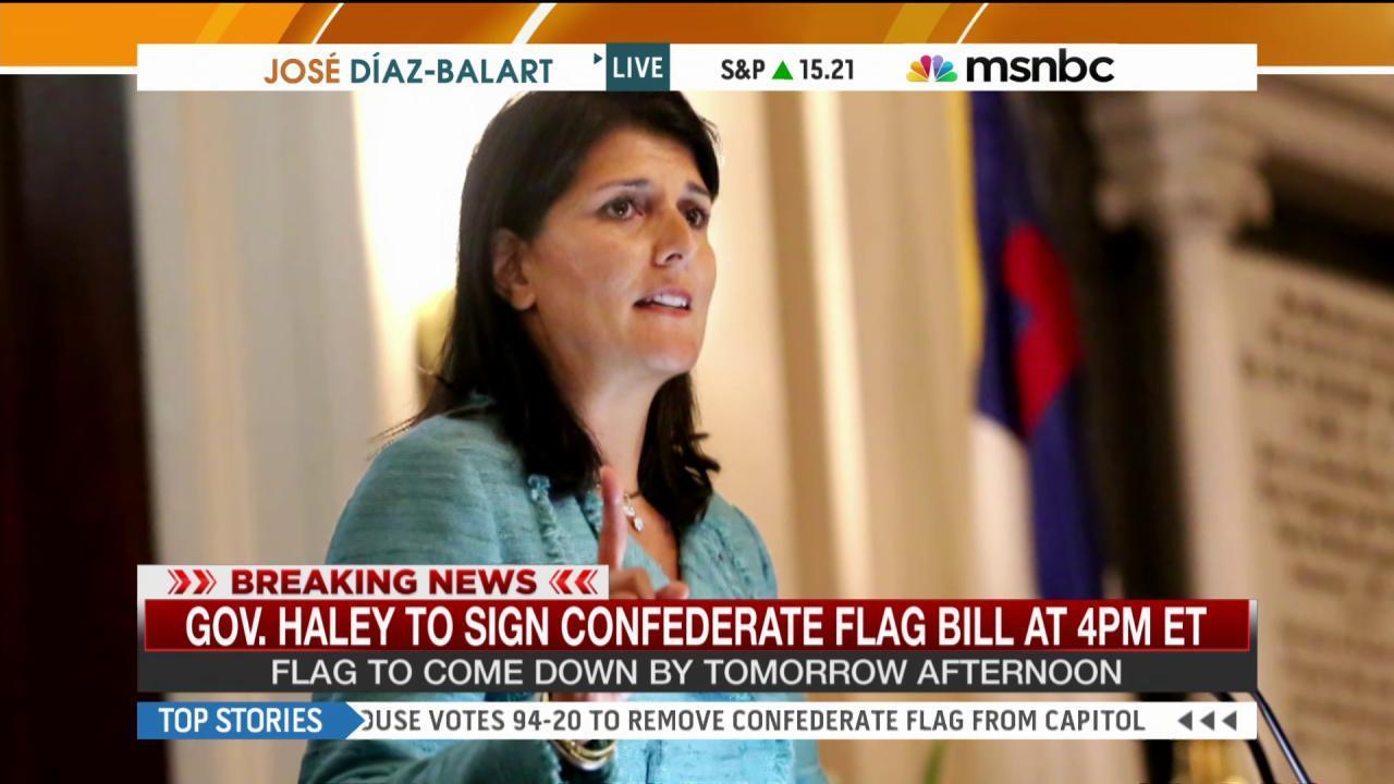 SC gov. to sign Confederate flag bill