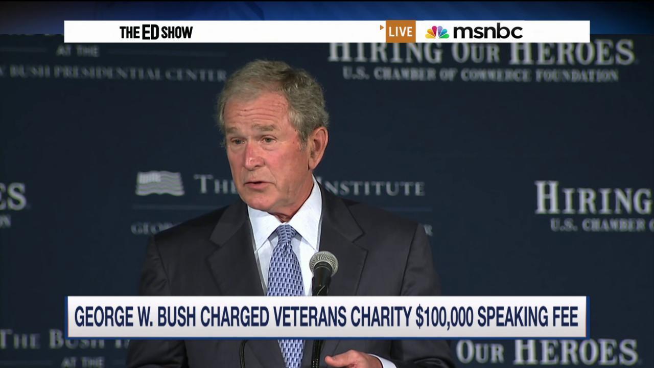 George W. Bush paid $100K to address Iraq...