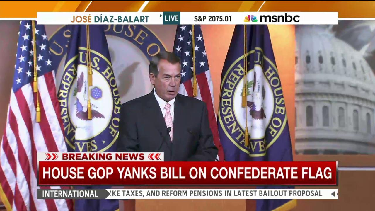 House GOP pulls bill on Confederate flag