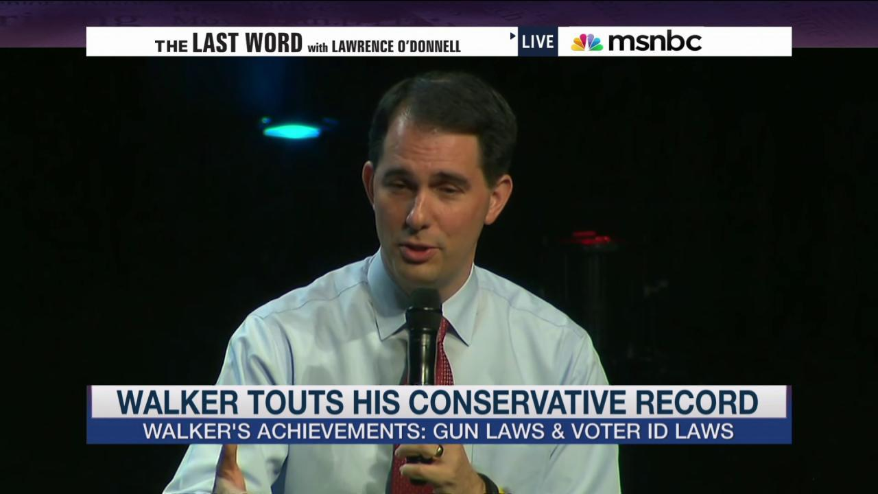 Scott Walker's 'Dick Cheney' speech