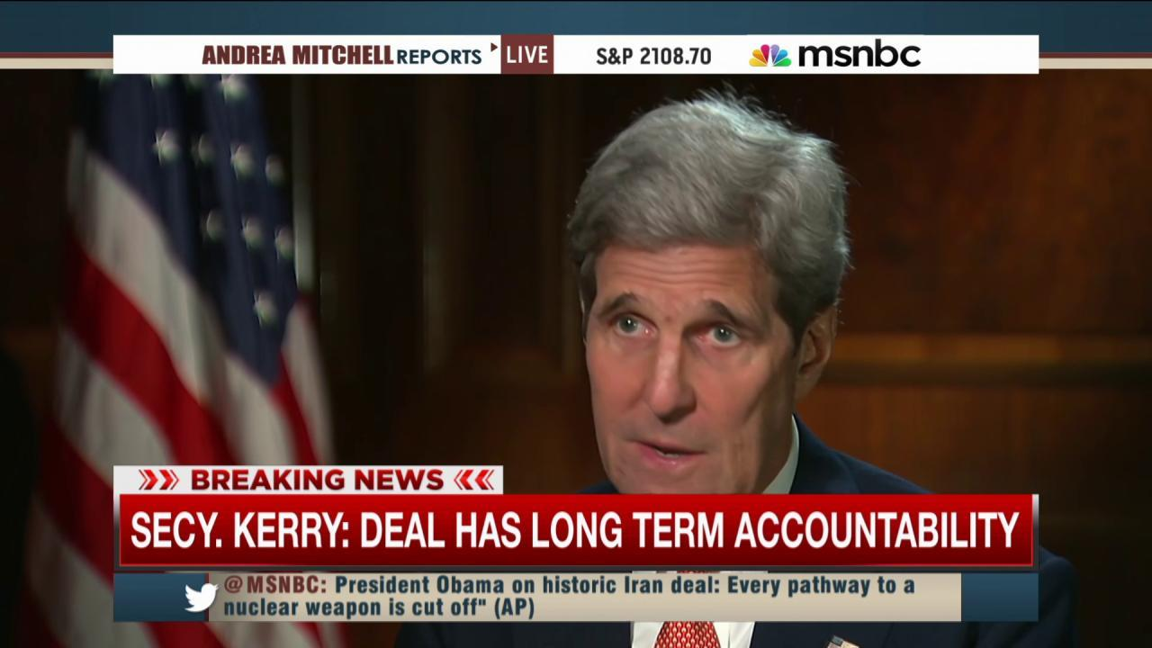 Kerry defends Iran deal: 'Israel is safer'
