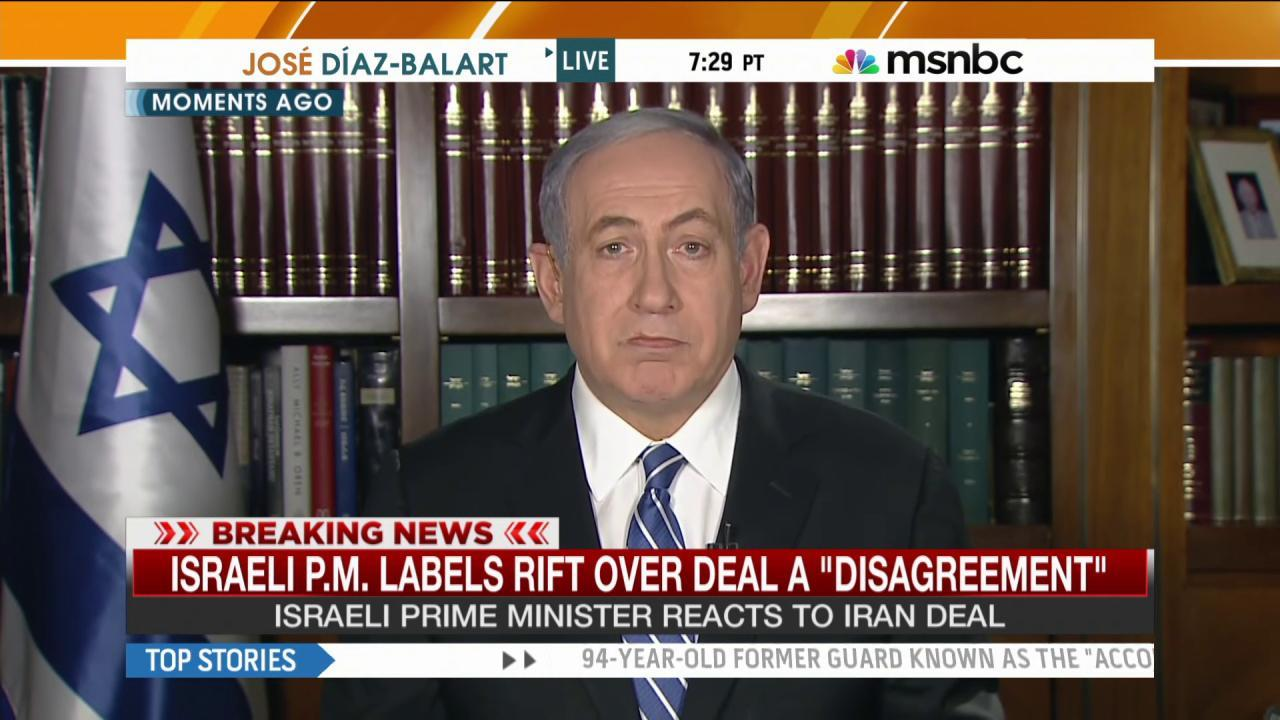 Netanyahu: Iran deal 'not good for any of us'