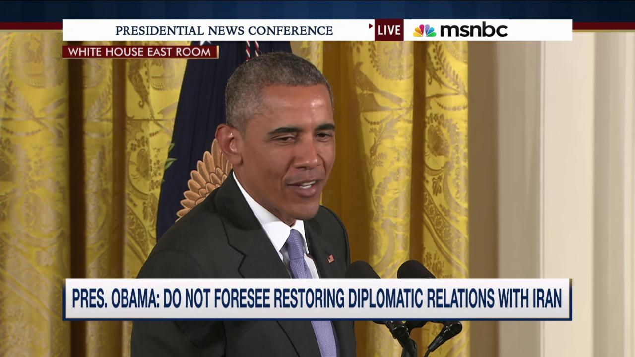 Obama: Not 'content' over detained Americans