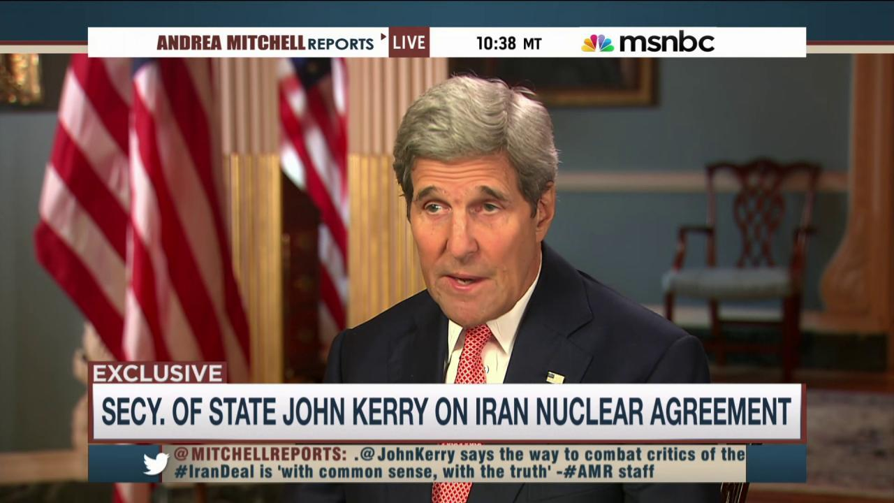 Kerry address Iran deal critics in Congress