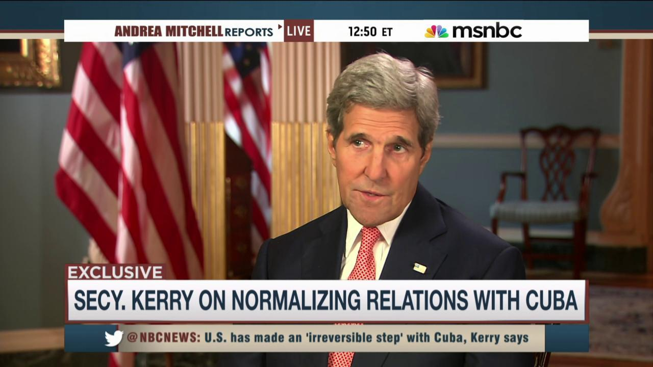 Kerry: US-Cuba normalization will be complex