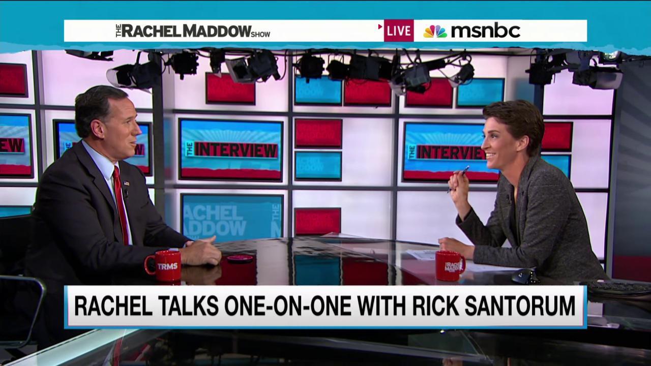Maddow, Santorum go head to head on SCOTUS