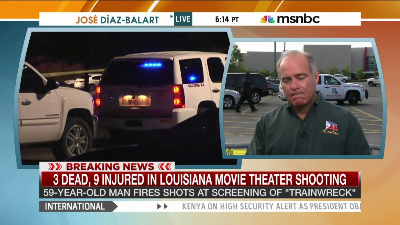 Father of survivor describes theater shooting