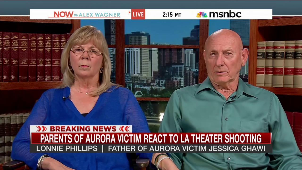 Parents of Aurora victim react to LA shooting