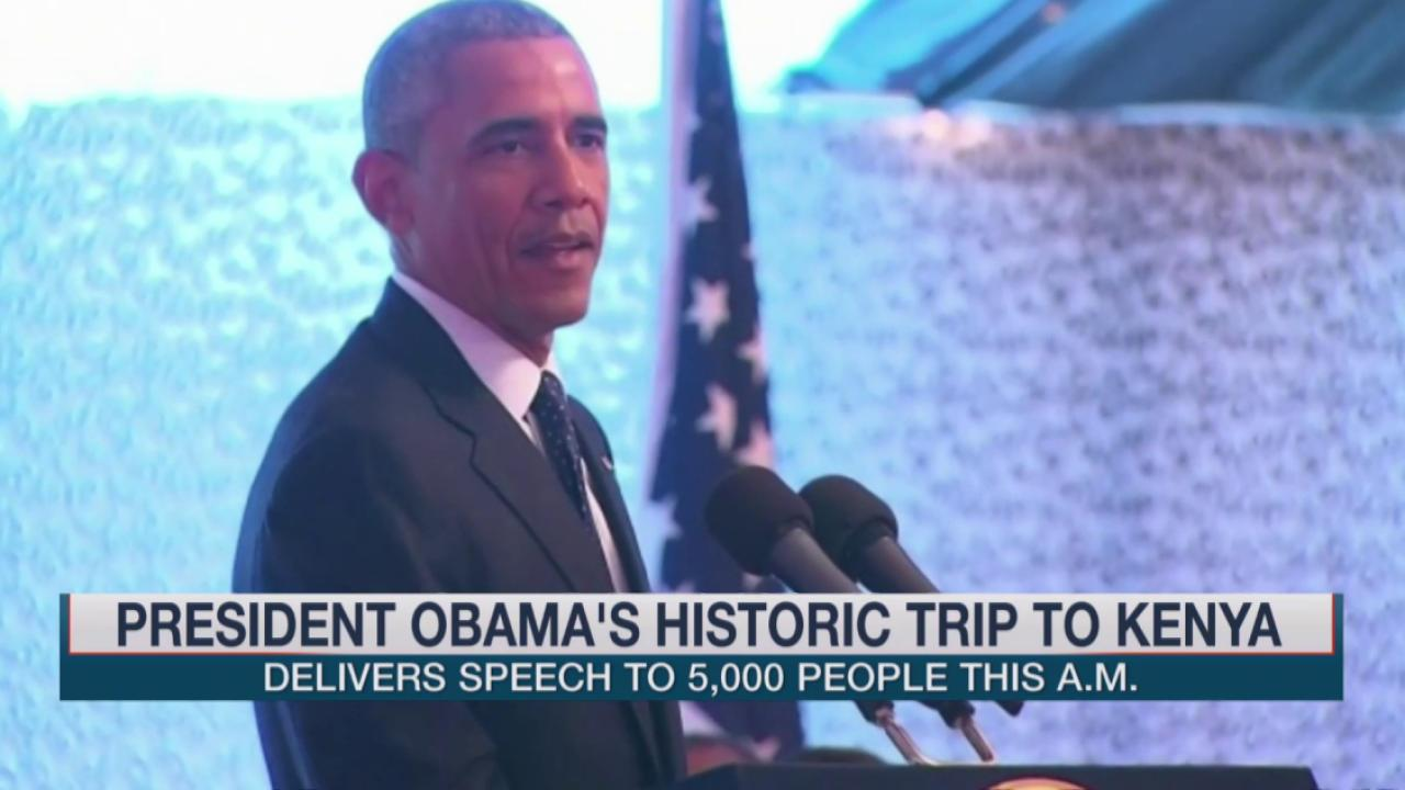 Obama addresses women's rights in Kenya