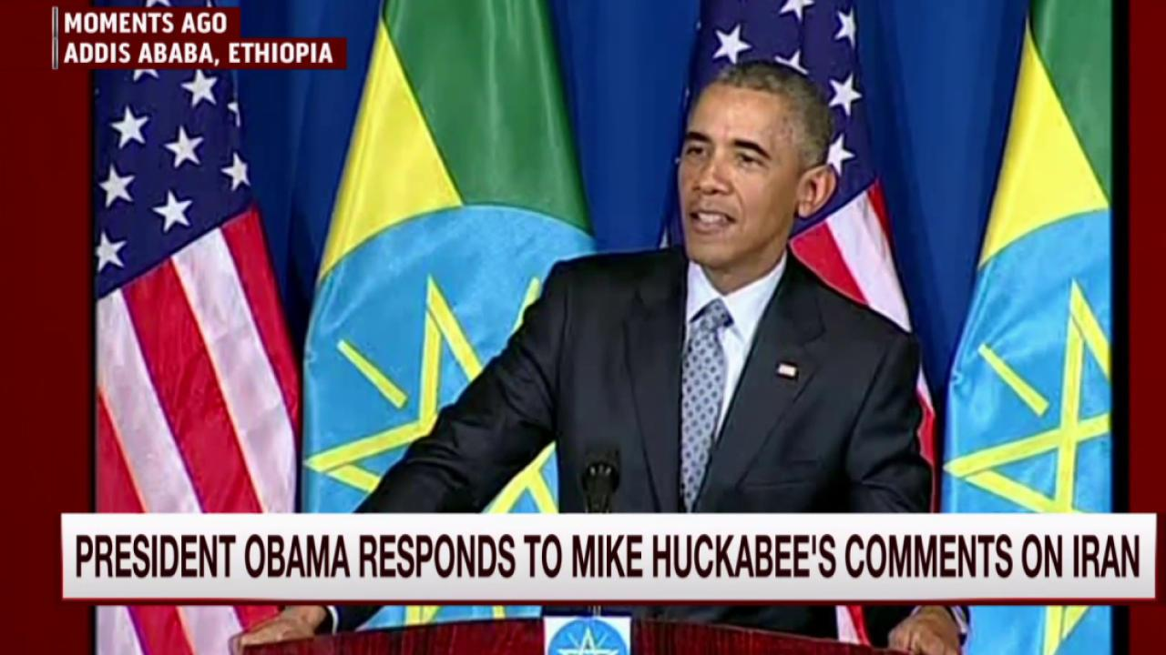 Obama slams Huckabee's Iran deal comments