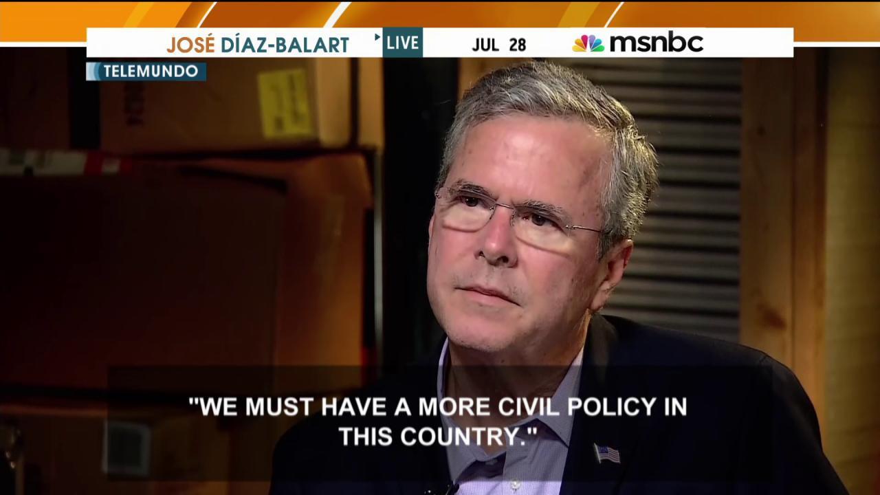 Jeb Bush: Hurt by Trump's 'vulgar' words