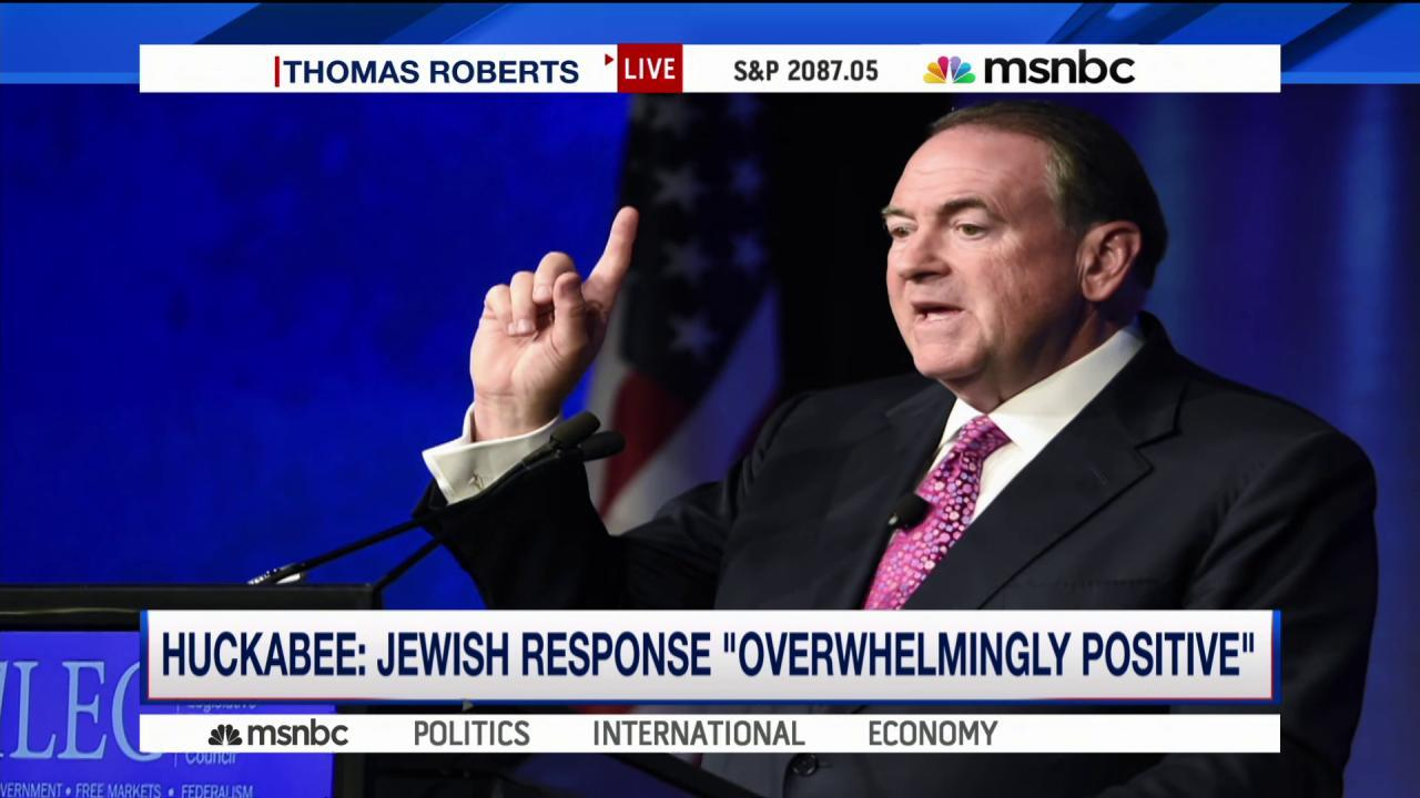 Huckabee compares Iran deal to Holocaust