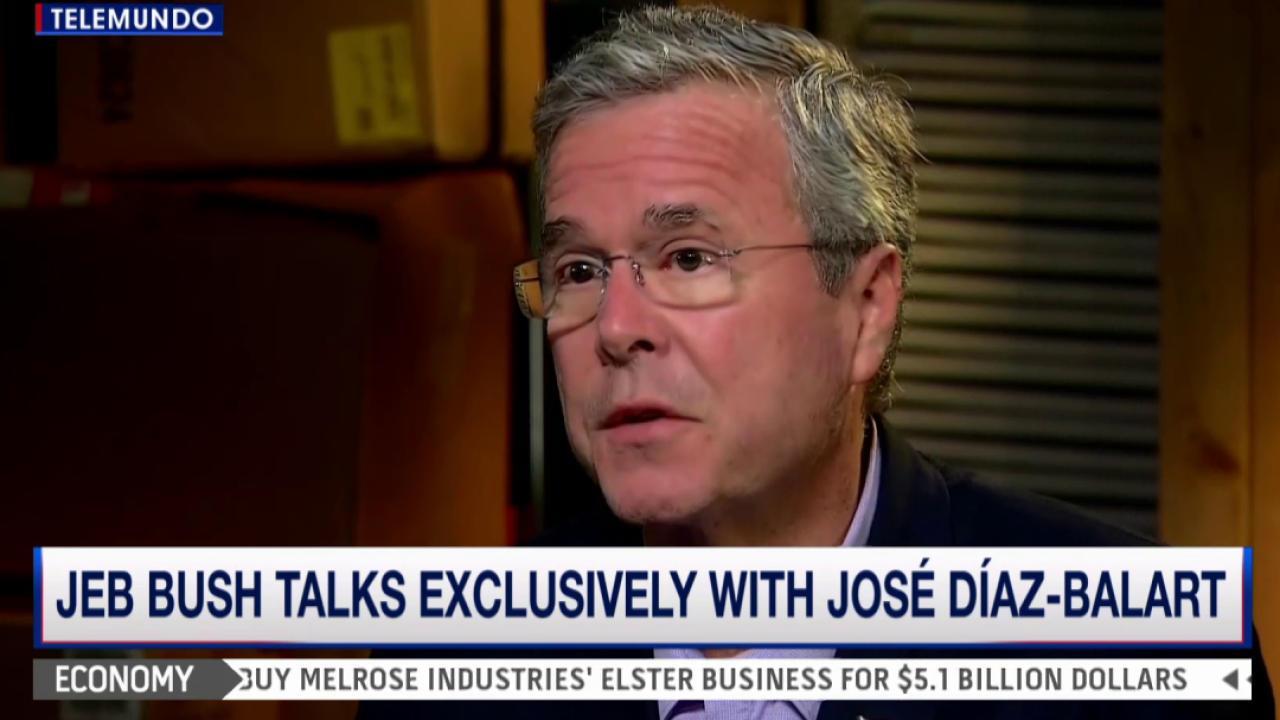 Jeb Bush takes campaign to Spanish media