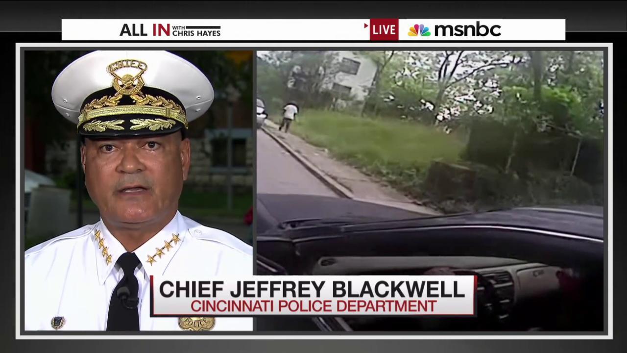 Cincinnati officials on officer indictment