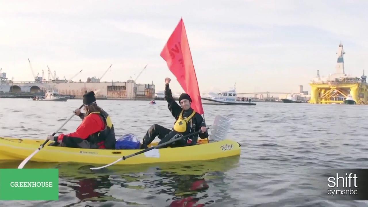 Kayaktivist take on Shell's Arctic plan