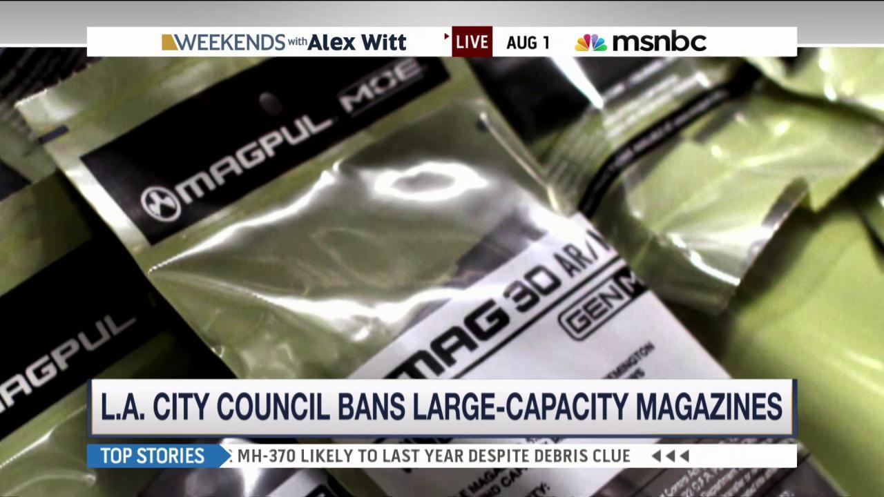 L.A. bans large-capacity firearm magazines
