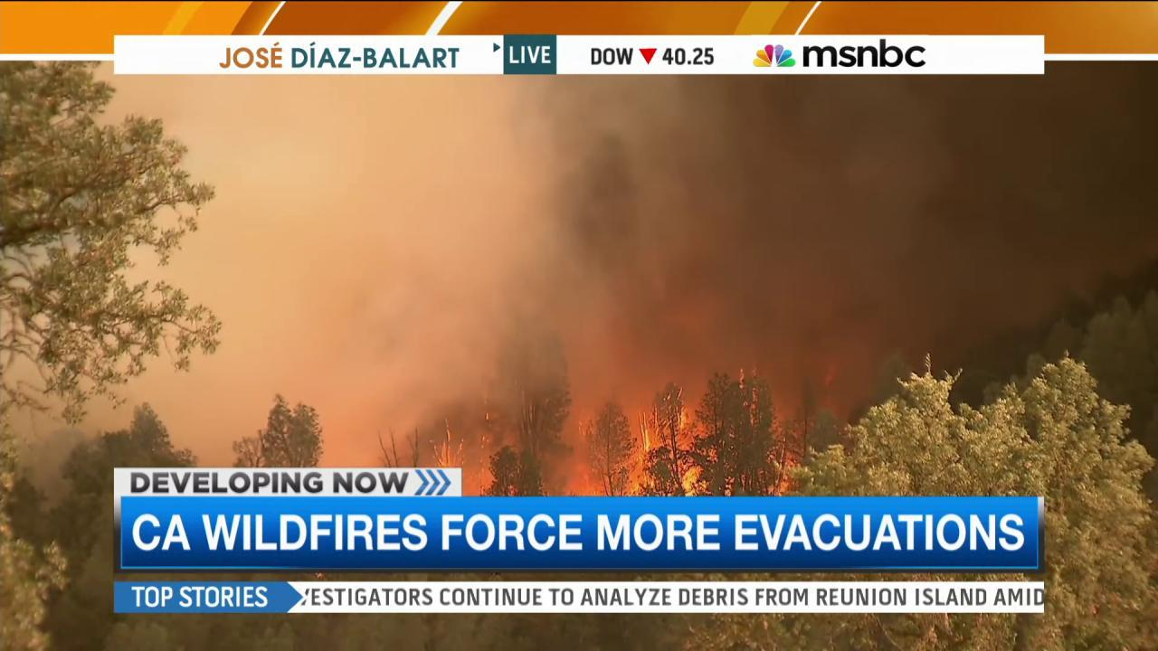 Calif. wildfires force more evacuations
