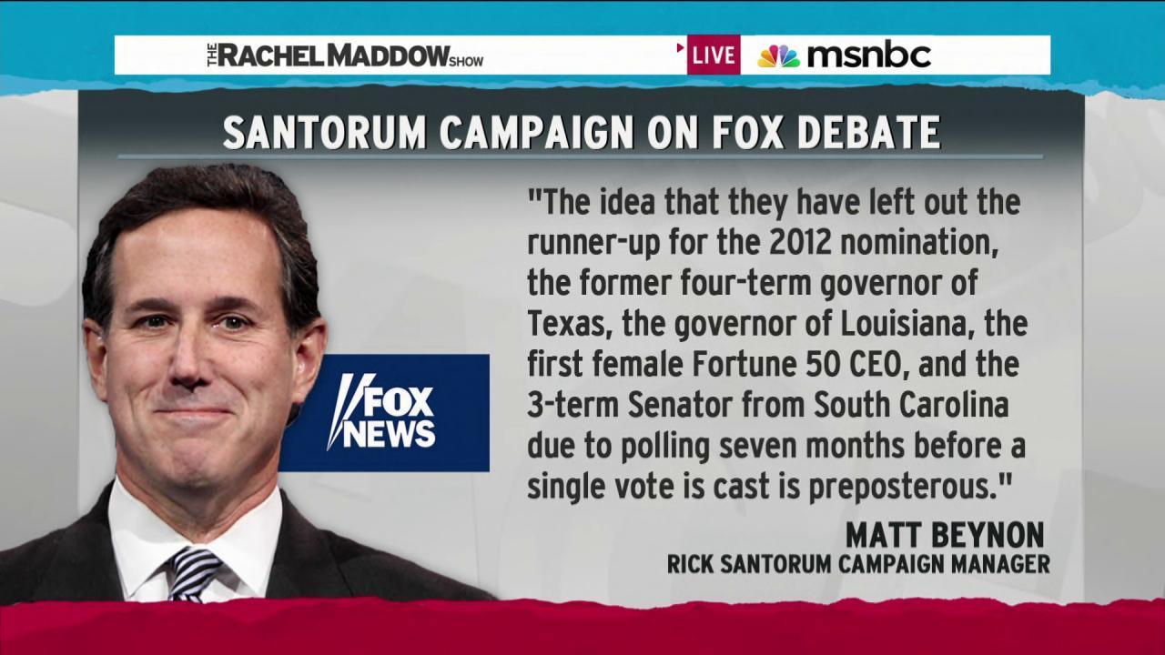 Santorum campaign rips Fox News debate picks