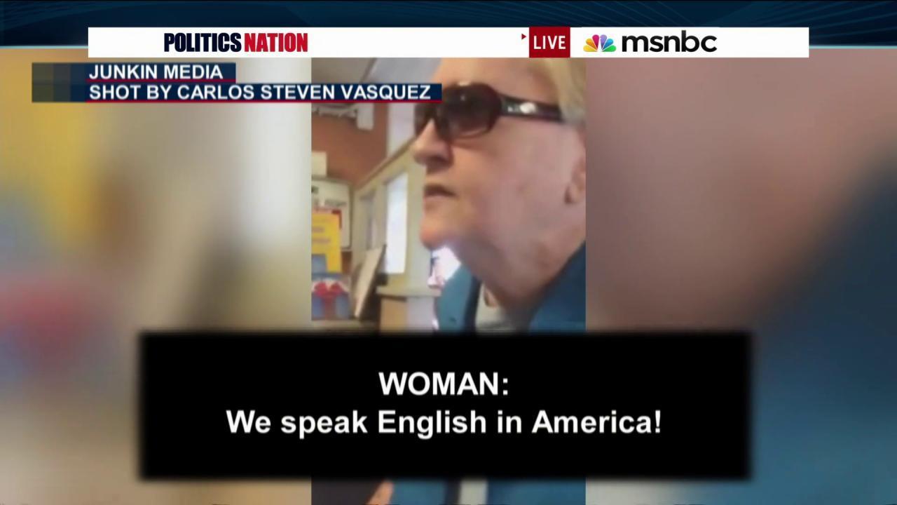 Woman's anti-Spanish rant goes viral