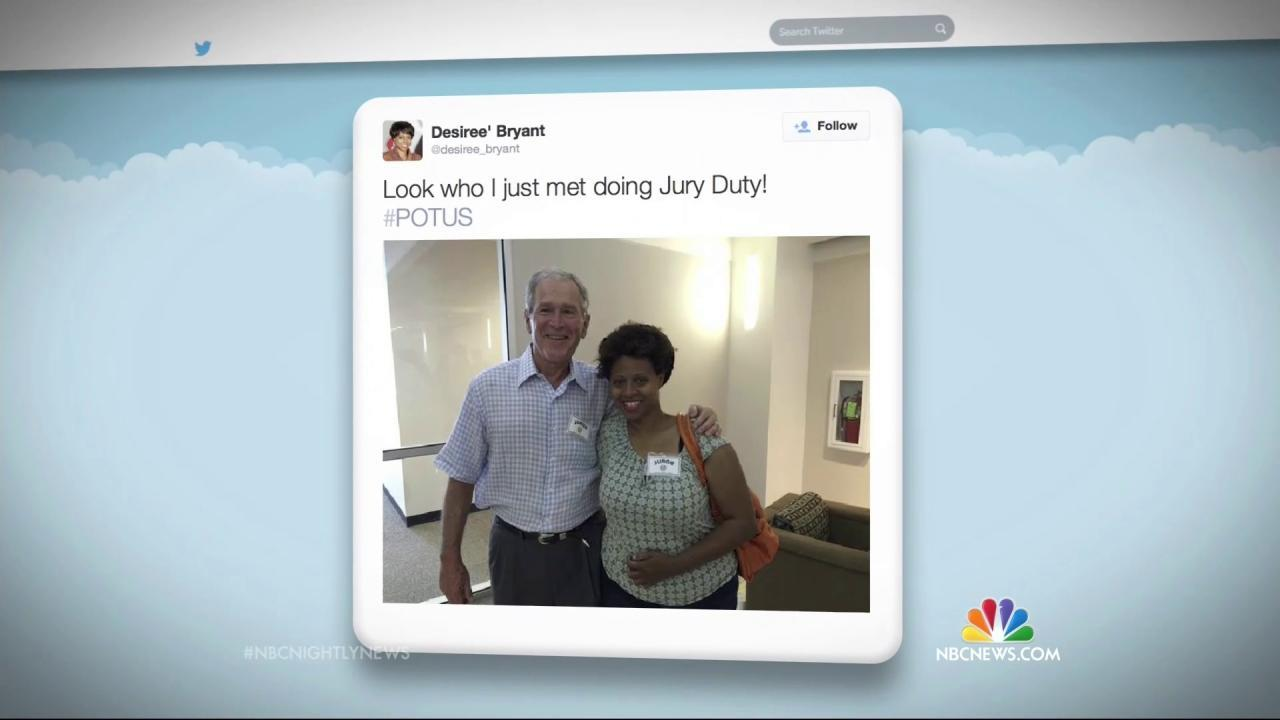 President George W  Bush Reports for Jury Duty in Dallas