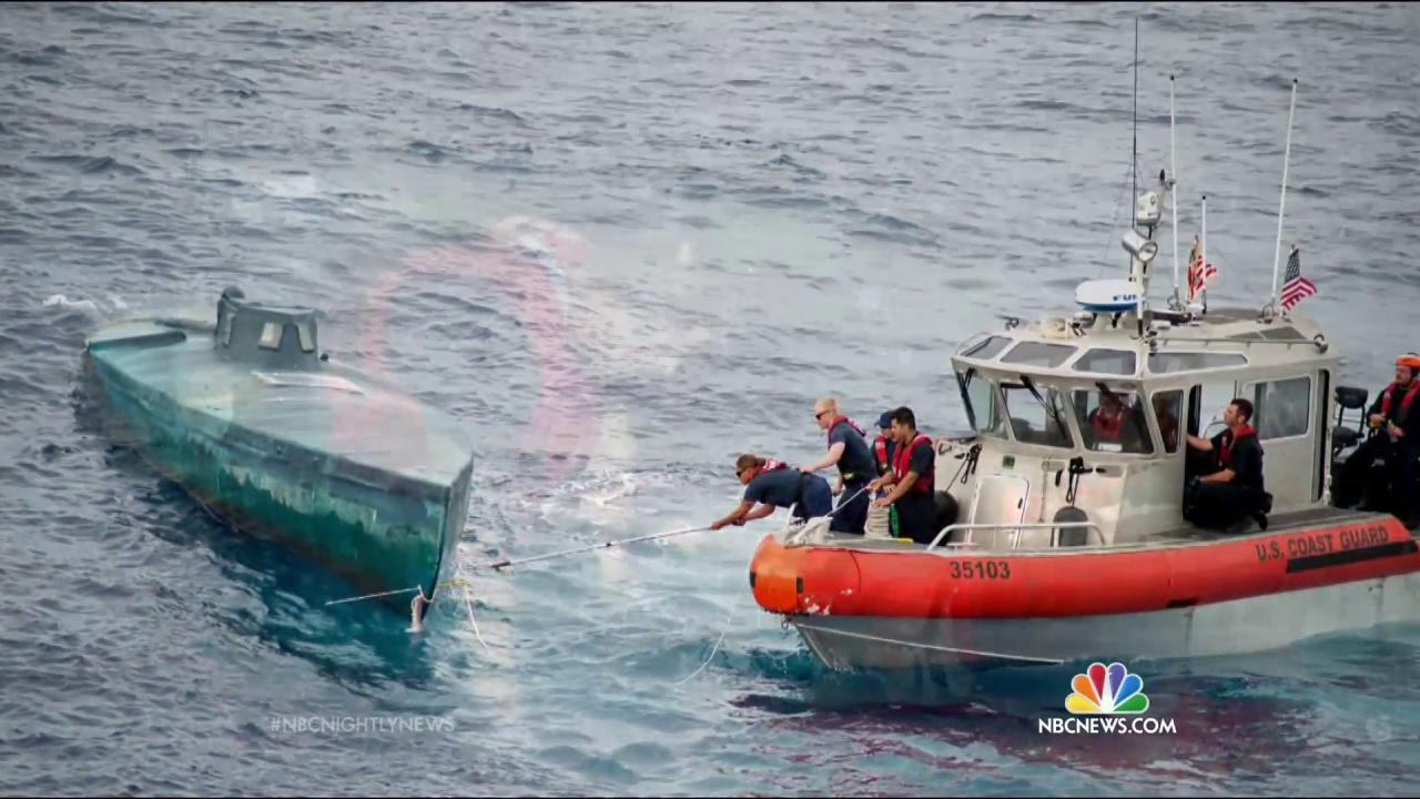 Coast Guard Busts Homemade Submarine, Seizes $181M Worth of Cocaine