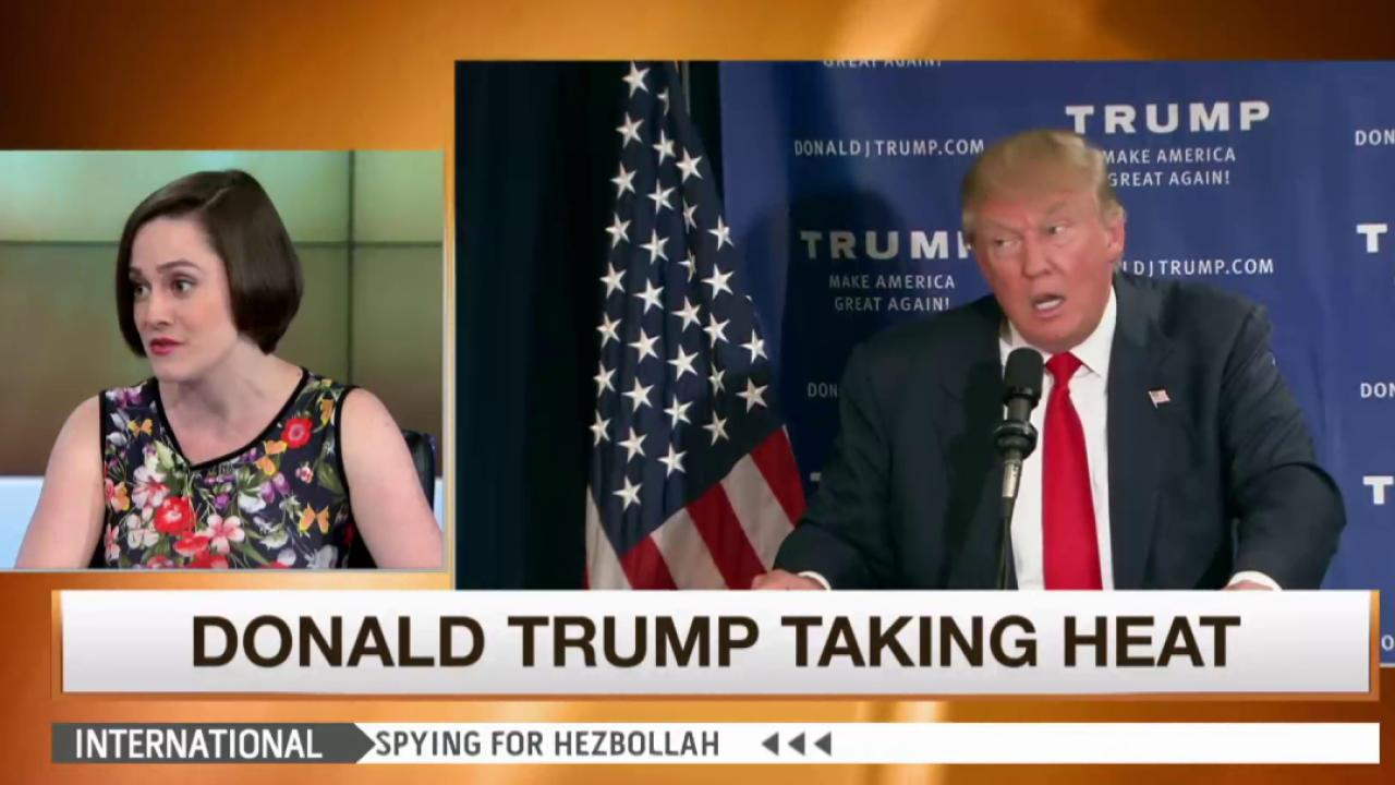 Trump continues taking heat