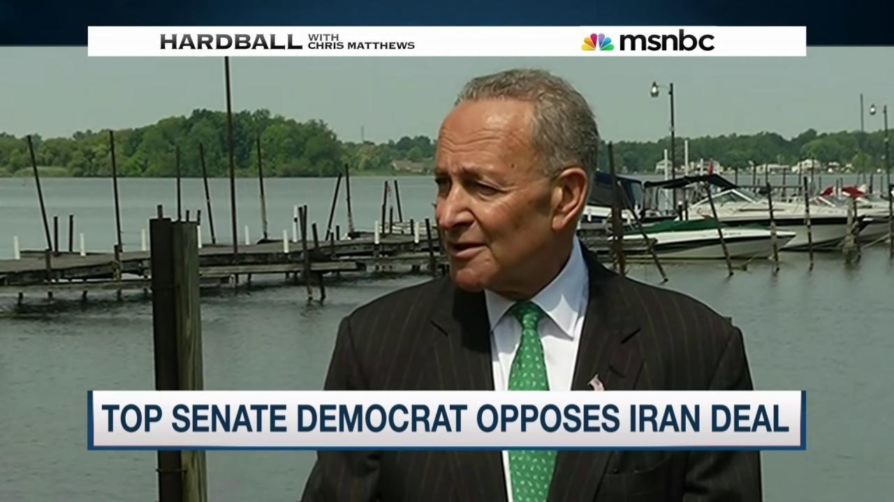 Top Senate Democrat opposes Iran deal