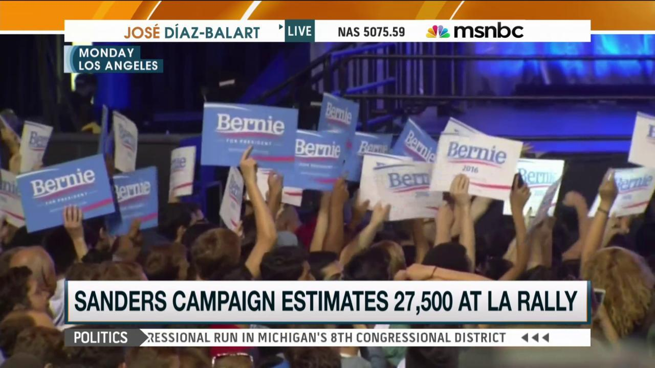 'Feel the Bern!' Thousands rally for Sanders