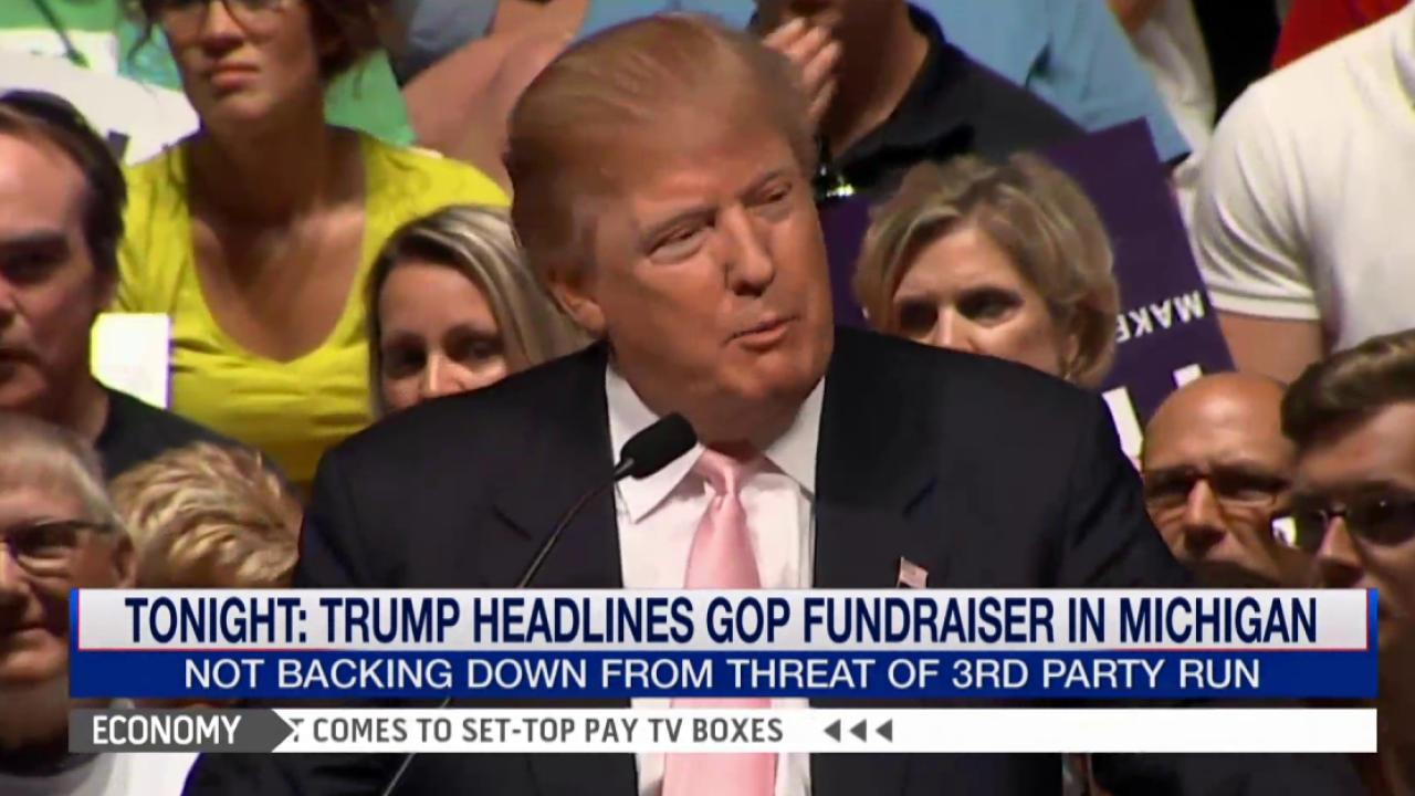 Trump won't back down from 3rd party run