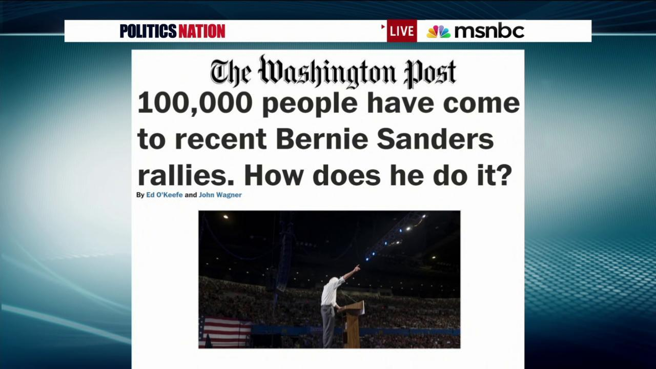 Bernie-mentum hits 100k supporters