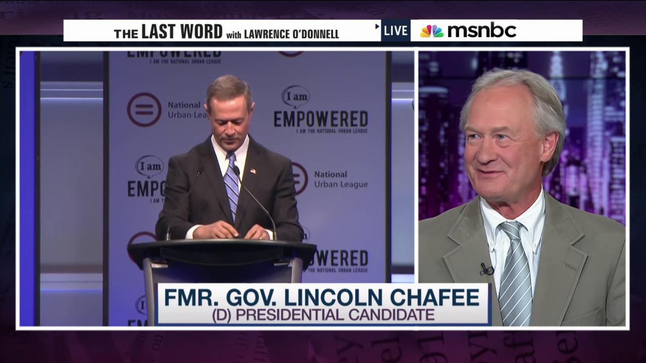 Chafee on debate controversy & war vote