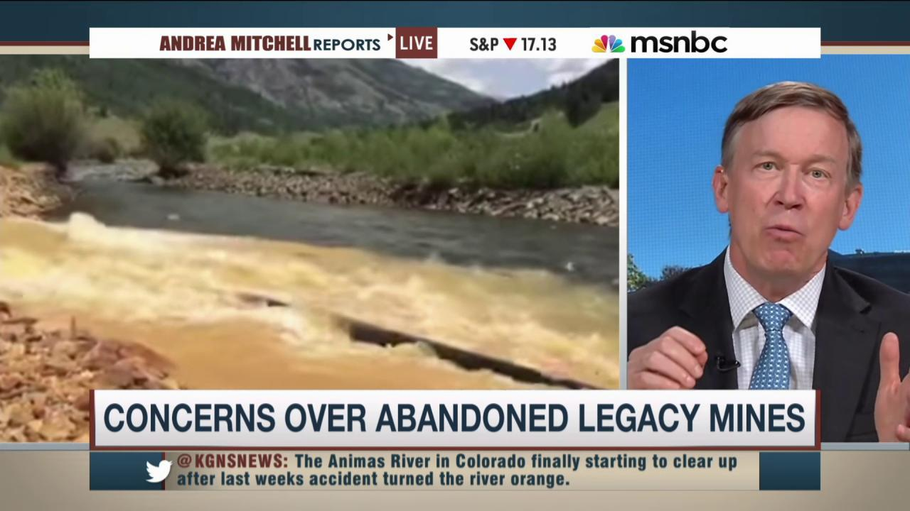 Colorado gov. addresses Animas River clean-up