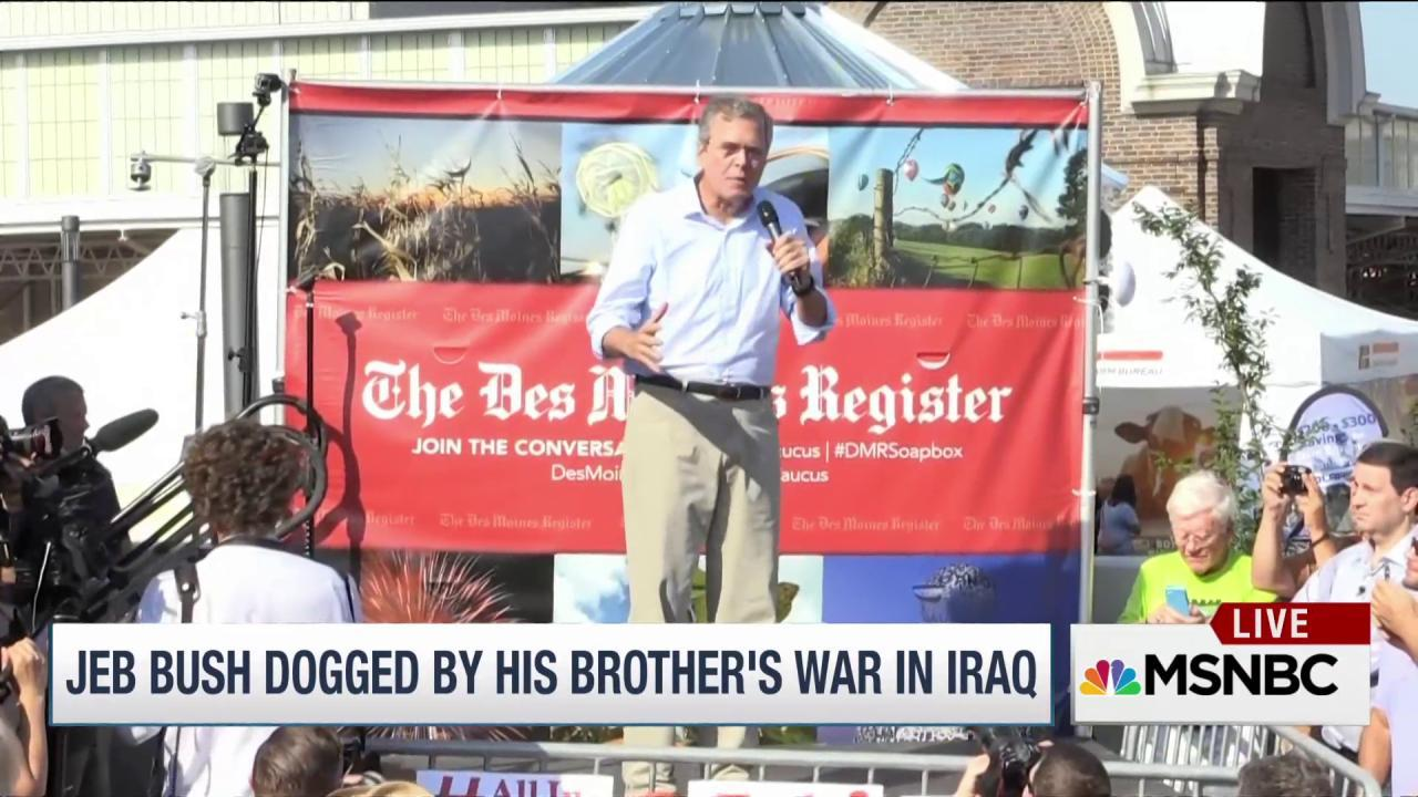 Jeb Bush tries to be his own man